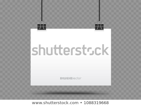 piece of paper hanging in holders Stock photo © romvo