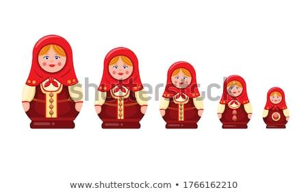 Russian national traditional wooden doll matreshka baby Stock photo © orensila