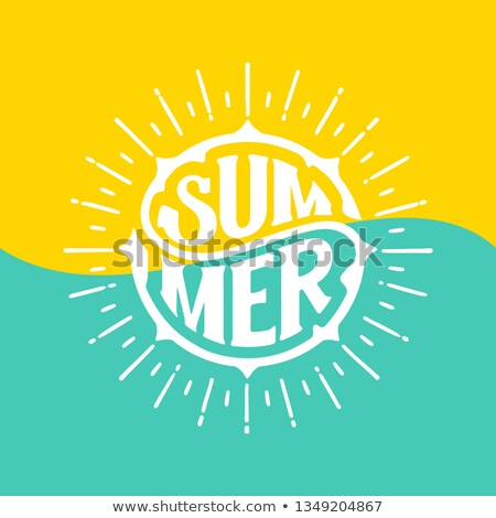 Hot Summer Time Poster with Text in Round Circle Stock photo © robuart