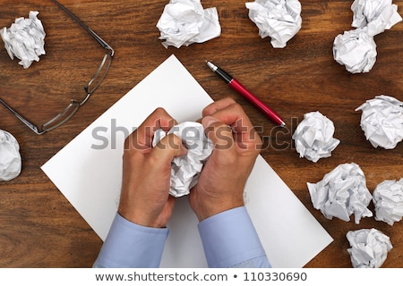 Writing hand in crumpled paper Stock photo © ra2studio