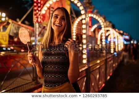 portrait of young playful woman stock photo © acidgrey