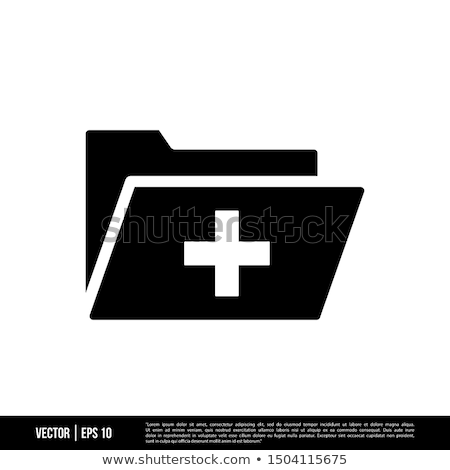 Folder Icon with checkmark in trendy flat style isolated on white background, for your web site desi stock photo © kyryloff