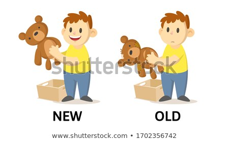 Opposite word of ancient new Stock photo © bluering