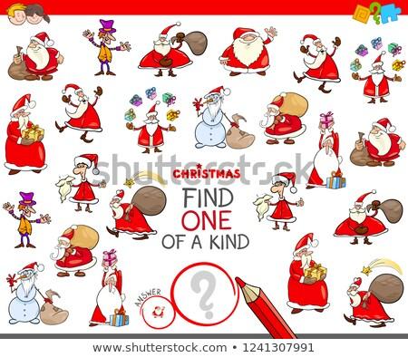 find one of a kind game with Santa Claus Stock photo © izakowski
