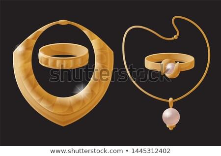 Gioielli pezzi oro set catene Foto d'archivio © robuart