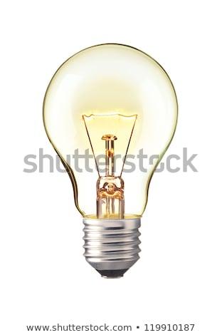 yellow light bulb isolated on white background stock photo © mikhailmishchenko