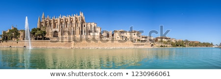 Cathedral of Palma de Mallorca and cityscape. Spain Stock photo © amok