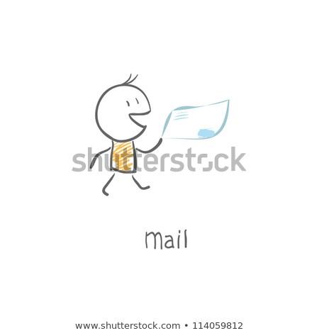 Cartoon Mail Carrier  Idea Stock photo © cthoman