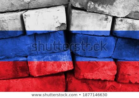 Сток-фото: флаг · Россия · окрашенный · дизайна · фон · искусства