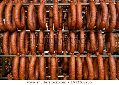 Prozess Wurst Herstellung industriellen Würstchen Essen Stock foto © grafvision