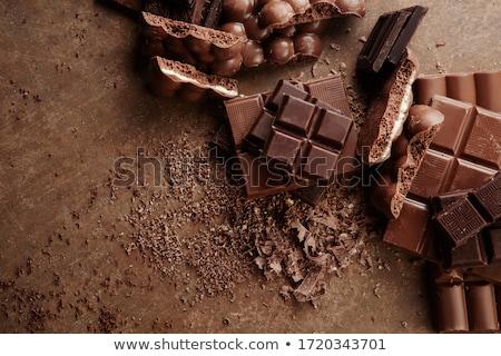 çikolata · şekerleme · altın · kutu · uzay - stok fotoğraf © karandaev