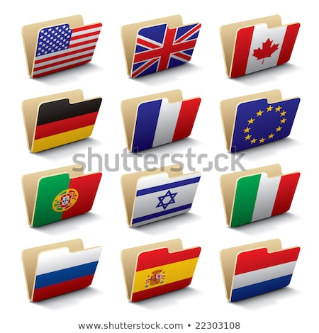 Folder with flag of portugal Stock photo © MikhailMishchenko