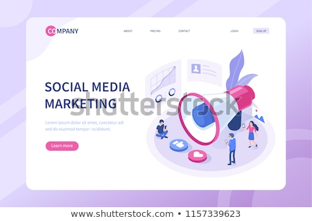 Közösségi média vezetőség menedzserek munka cég stratégia Stock fotó © RAStudio