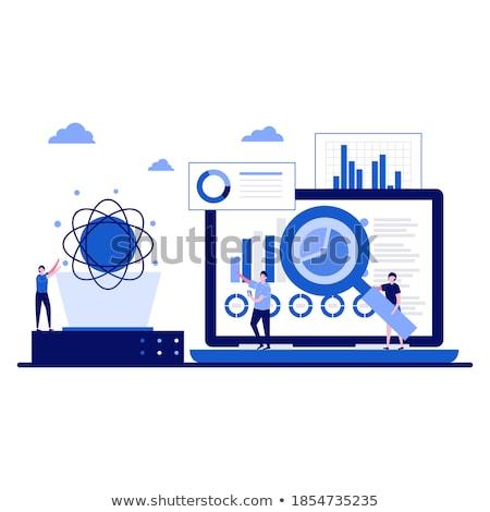 grande · dados · máquina · aprendizagem · análise · informação - foto stock © rastudio