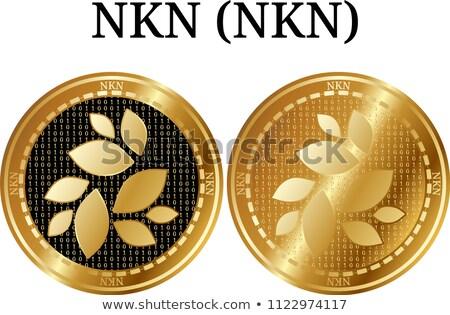 érme vektor szimbólum ikon felirat pénzügy Stock fotó © tashatuvango