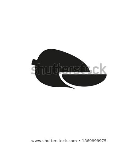exotique · juteuse · pierre · fruits · vecteur · affiche - photo stock © robuart