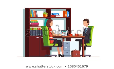 Secretary and Client Meeting Vector Illustration Stock photo © robuart