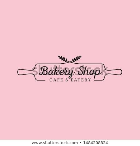 Bakkerij logo brood icon vector teken Stockfoto © blaskorizov
