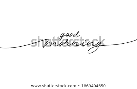 good morning   modern line design style illustration stock photo © decorwithme