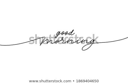 Goedemorgen moderne lijn ontwerp stijl illustratie Stockfoto © Decorwithme