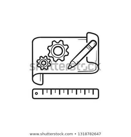 üzlet · terv · terv · papír · rajz · felszerlés - stock fotó © rastudio