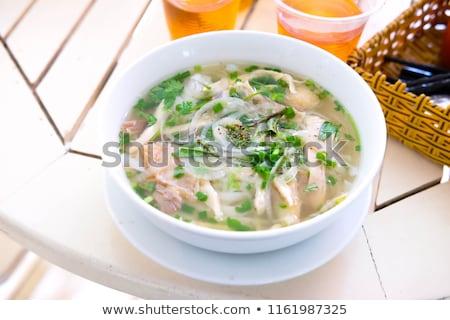 コメ 麺 スープ 鶏 インドネシアの ヌードル ストックフォト © szefei
