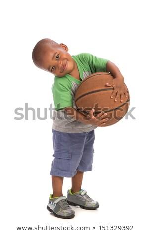 черный мальчика баскетбол ребенка мужчин Сток-фото © netkov1