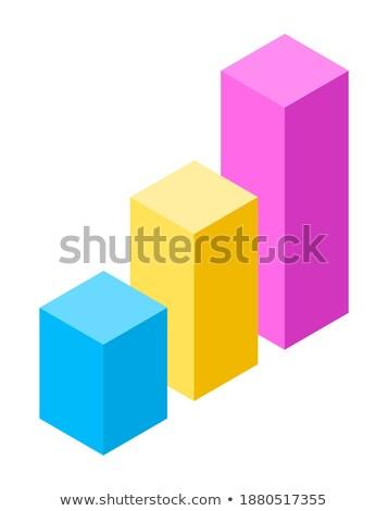 Statistisch verschillend kleuren analytics ontwerp vector Stockfoto © robuart