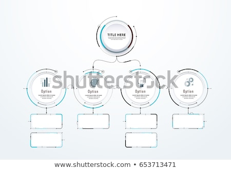 Circle chart infographic template with 4 options for presentations, advertising, layouts, annual rep stock photo © kyryloff