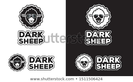 Black and Bold Shaded Round Icon Vector Illustration Stock photo © cidepix