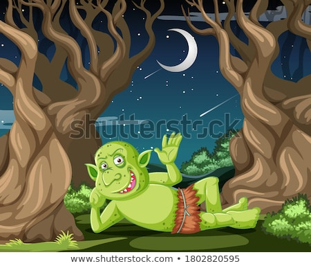 Scary goblin at night scene Stock photo © colematt