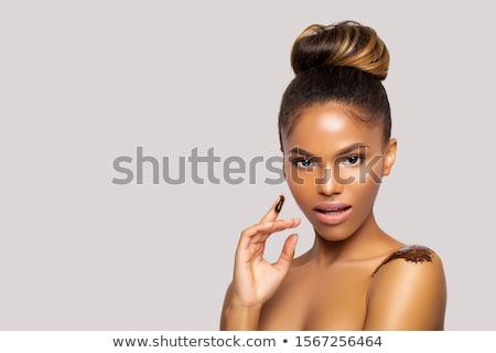 Cosmetician doing makeup Stock photo © kalozzolak