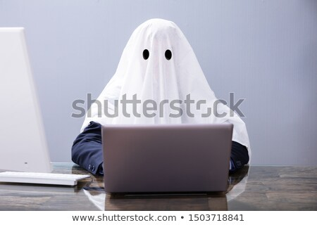Ghostwriter Writing Article On Laptop Stock photo © AndreyPopov