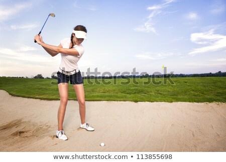 женщины гольфист мяч для гольфа мяча из женщину Сток-фото © Kzenon