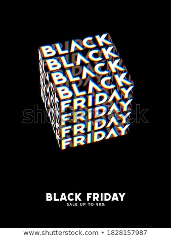3D estilo black friday venda oferecer compras Foto stock © SArts