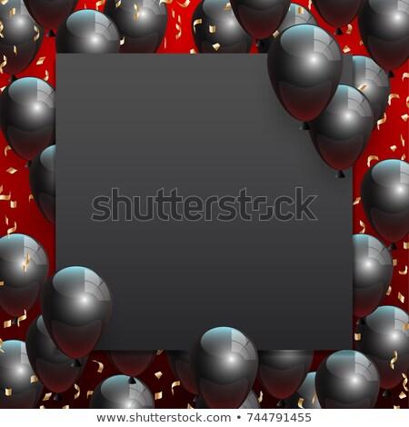 черная пятница продажи конфетти баннер текста пространстве Сток-фото © SArts