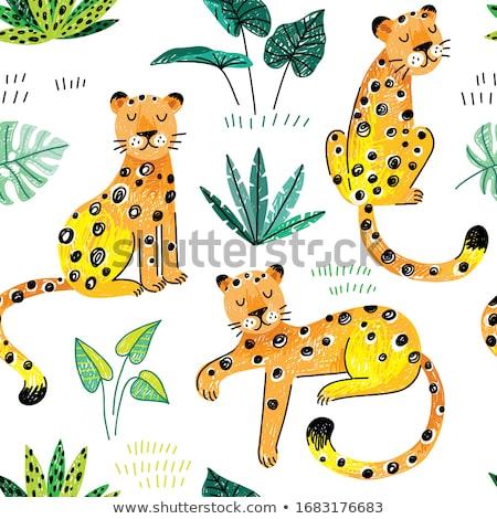 cartoon · afrika · illustratie · monochroom · afrikaanse - stockfoto © balabolka