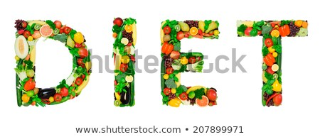 Word diet is made from fruite and vegetables. Stock photo © Illia