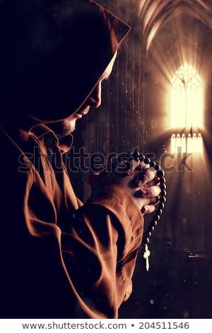 проповедь монах Церкви портрет средневековых поклонения Сток-фото © nomadsoul1