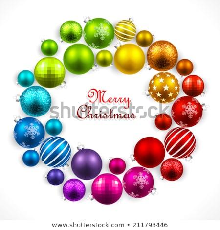 Színes karácsony szín spektrum golyók izolált Stock fotó © ukasz_hampel