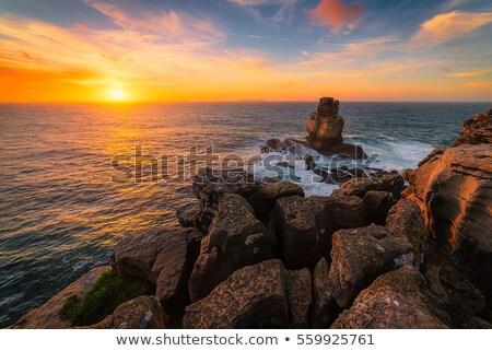 мнение Маяк морем Португалия закат здании Сток-фото © diego_cervo