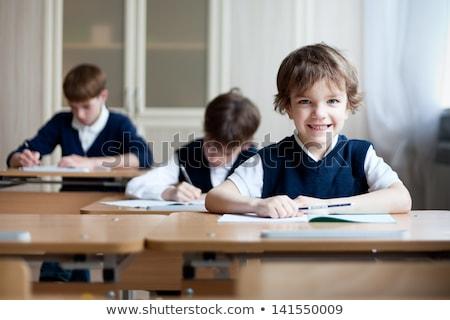 Ein Schuluniform Illustration Schule glücklich Stock foto © bluering