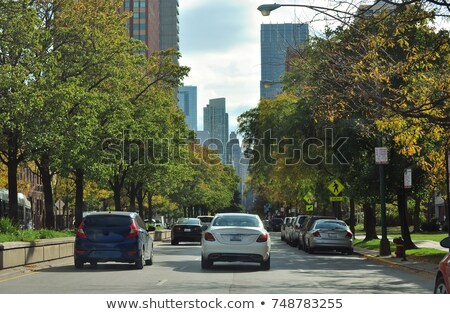 City Center Infrastructure Office with Parked Cars Stock photo © robuart