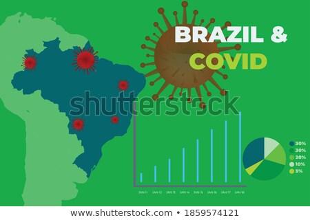 Brazylia banderą ilustracja koronawirus niebezpieczeństwo kraju Zdjęcia stock © asturianu