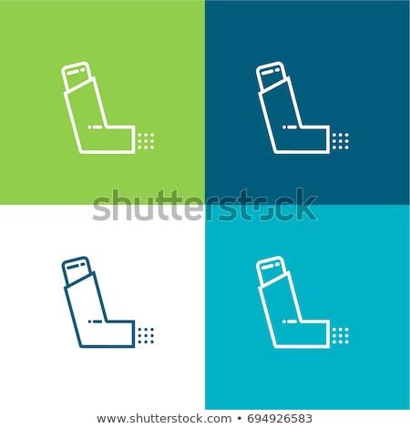 medical inhaler icon vector outline illustration Stock photo © pikepicture