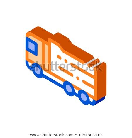 Agrarisch groot vracht vrachtwagen isometrische icon Stockfoto © pikepicture