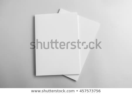 Boeken kantoor map geïsoleerd witte Stockfoto © Raduntsev