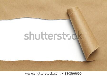 inhoud · gescheurd · papier · woord · achter · gescheurd · pakpapier - stockfoto © jsnover