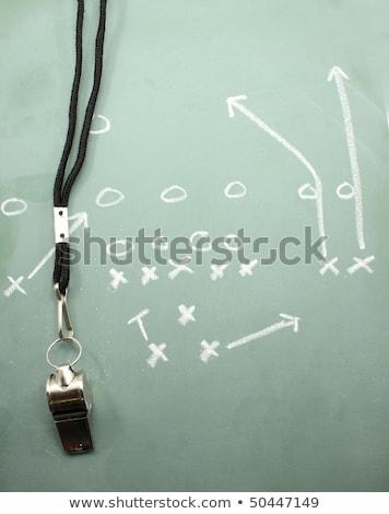futebol · jogar · diagrama · americano · verde · quadro-negro - foto stock © mybaitshop