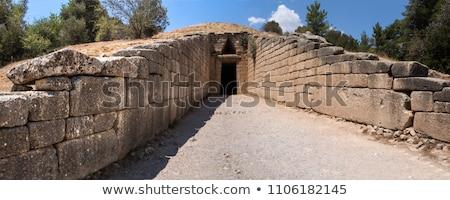 Grego túmulo antigo tesouraria pedra Grécia Foto stock © Studiotrebuchet